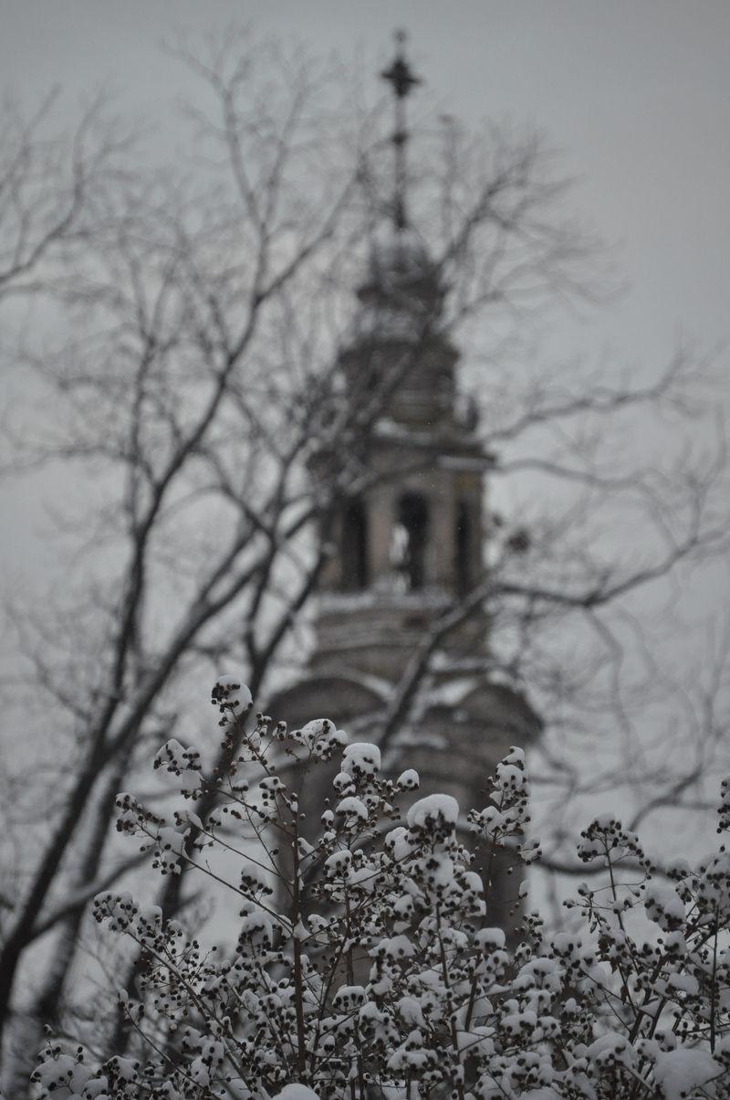 Christmas Snow church