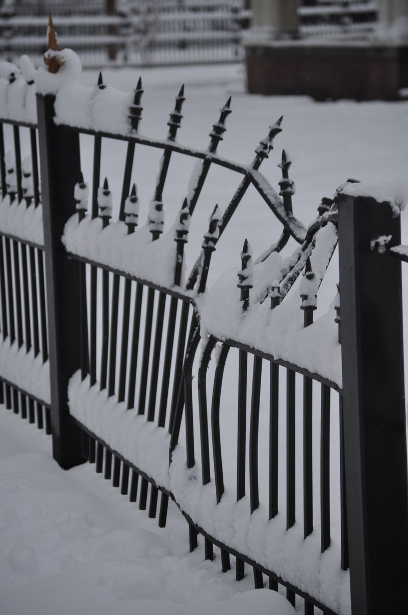 Christmas Snow fence