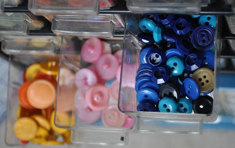First shirt buttons blue