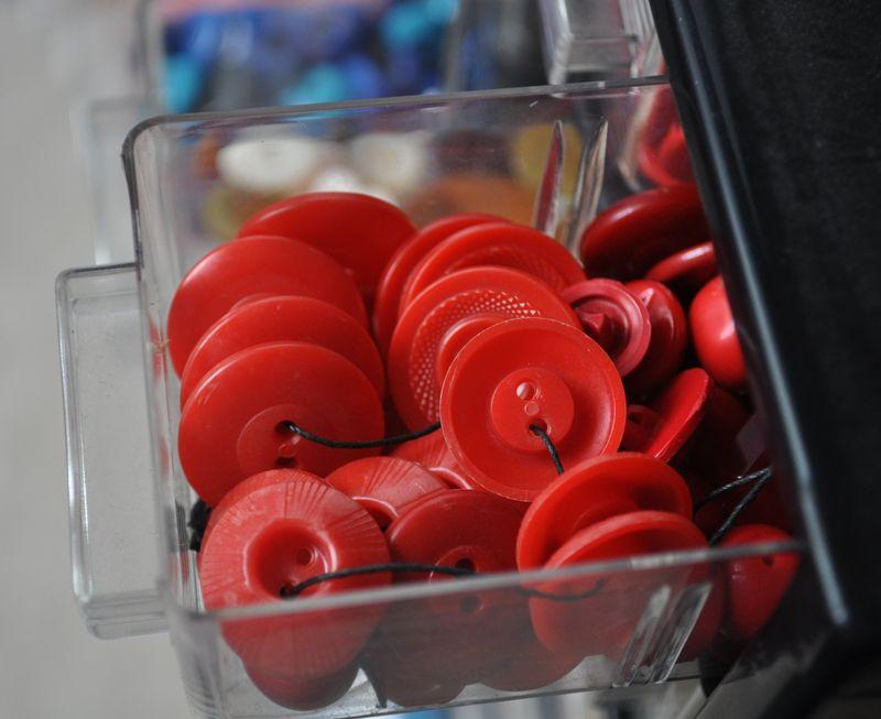 First shirt buttons red